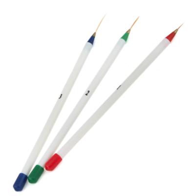 3_Delige nailart striper penseel set