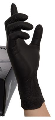 Nitril Handschoen black wave maat S