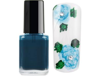 Nailart color drop ink aqua Blue