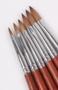 Acrylpenseel  100% Kolinsky handvat hout maat 6