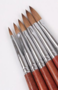 Acrylpenseel  100% Kolinsky handvat hout maat 14